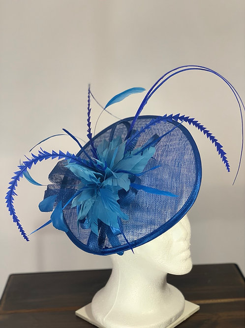 "Kentucky Derby Fascinator ""Fascinated in Blue"""