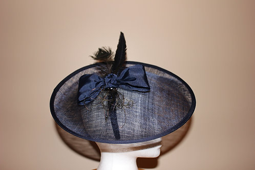 """Neigh Neigh Navy"" SOLD (fascinator)"