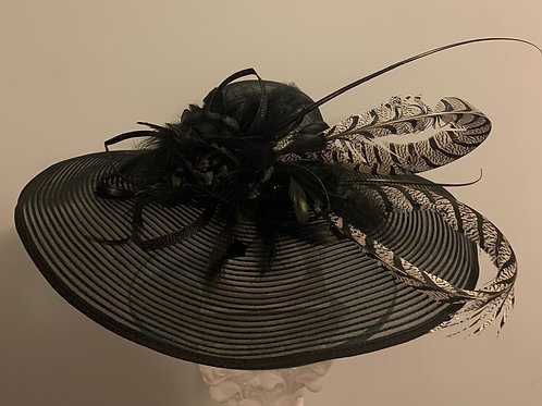 "Kentucky Derby Hat-""Black Triumph"""