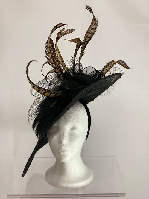 Black and Regal - Kentucky Derby Fascinator - SOLD