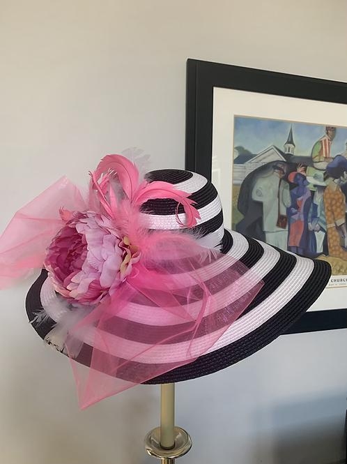 """Kentucky Derby Hat """"Oaks Floral"""" SOLD"""