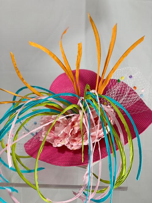 "Hot Pink Kentucky Derby Hat- ""Hatitude"" SOLD"