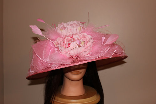 """SOLD """"Parading in Pink"""" - Kentucky Oaks or Derby Hat"""