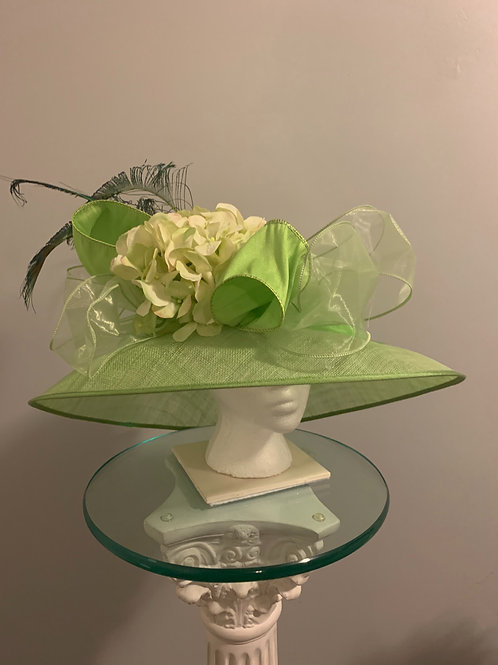 Kentucky Derby Hat -Luck be a Lady Lime