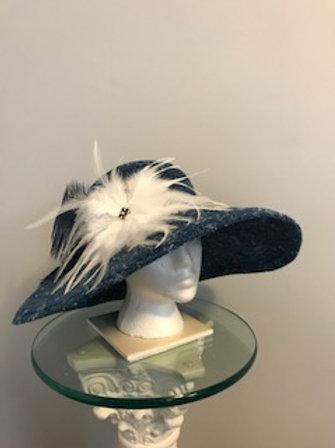"""Breeders' Cup Hat -""""Haze-y Blue Skies"""""""