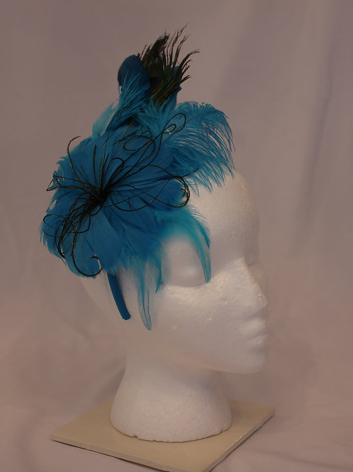 "Kentucky Derby Fascinator-""Blue Wonder"""