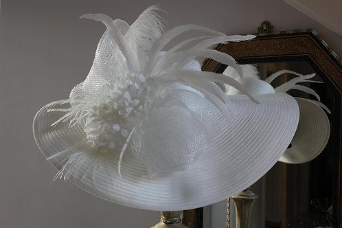 """White Out Winner""  Kentucky Derby Hat"