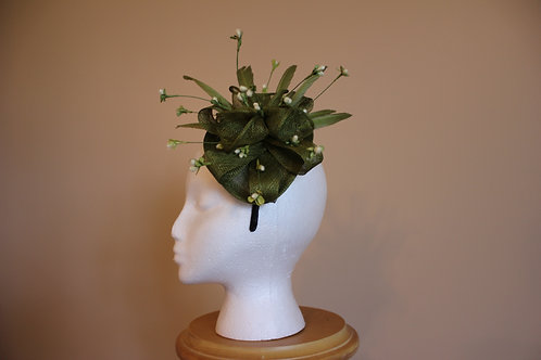 Fascination Station-avocado fascinator on headband