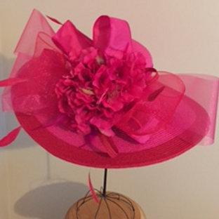 "SOLD- Kentucky Derby Hat ""Raspberry Runner"""