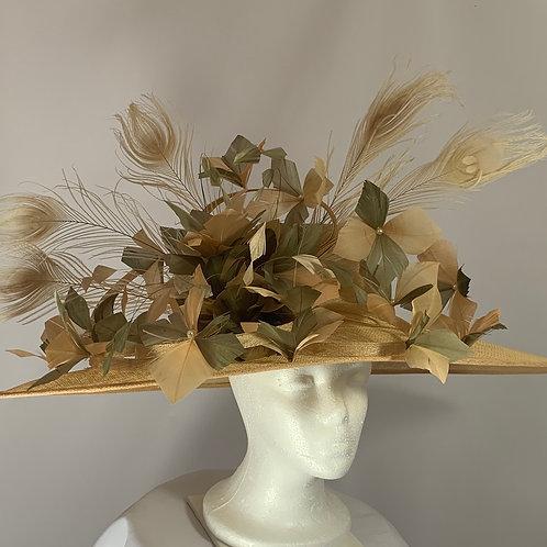 """Kentucky Derby Hat """"Almond Soirée"""""""