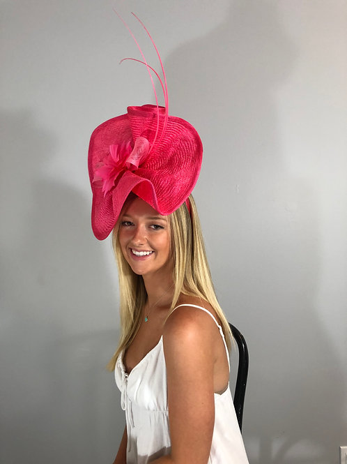 """SOLD Kentucky Derby  Fascinator """"Coraled Pink"""""""