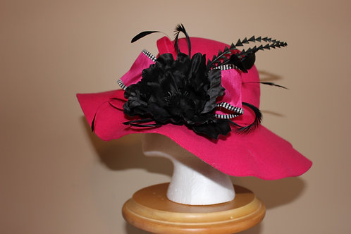 """Passionate in Pink"" - winter or fall hat"