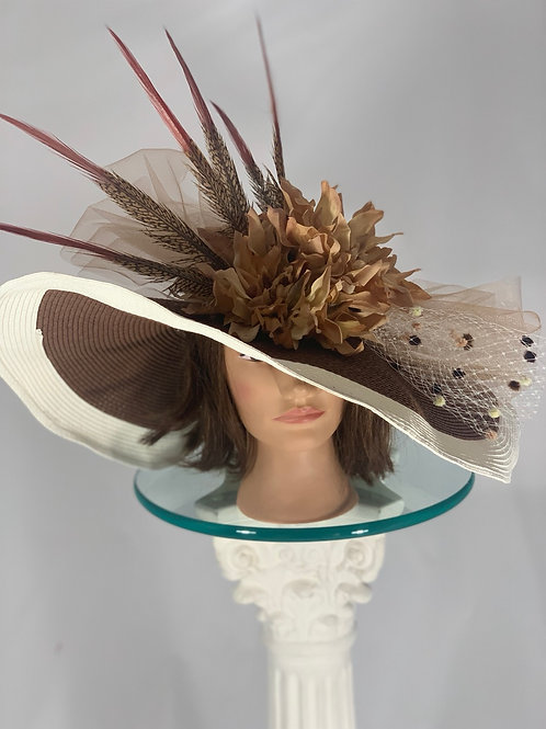 "Kentucky Derby Hat "" Sienna Sweetheart"""