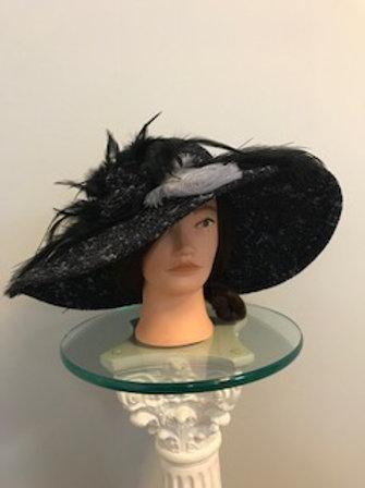 """Winter Onyx"""" - fall black hat"