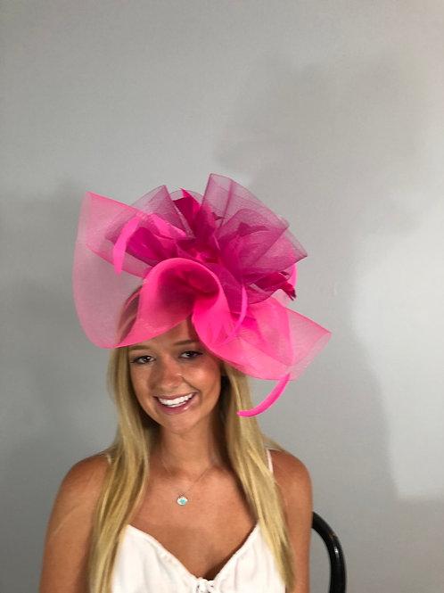 "SOLD Kentucky Derby Fascinator ""Ponies In Pink"""