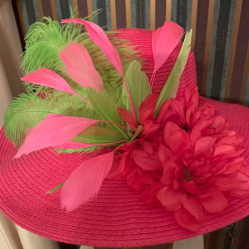 "Kentucky  Derby Pink Hat ""Small But Mighty"""