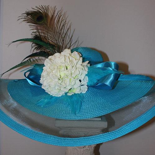 """Kentucky Derby Hat - """"Blue Baby Blue"""""""