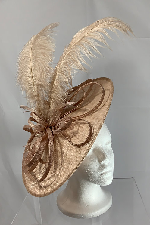 SOLD - Kentucky Derby Blush Fascinator