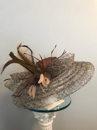 """SOLD. Kentucky Derby Hat - """"Cinnamon Swirl"""""""
