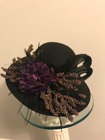 """Breeders' Cup SOLD - Black black wool hat -""""Breeders' Bounty"""""""