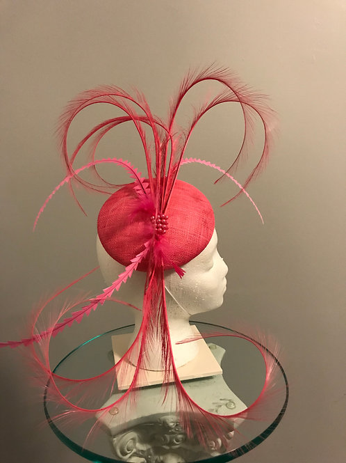 Lady Lipstick Fascinator-Kentucky Derby