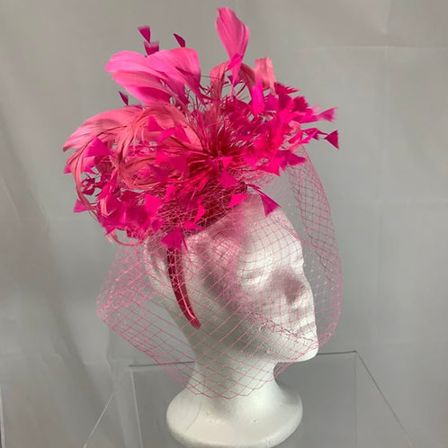 Kentucky Derby Fascinator - Pegasus Pink