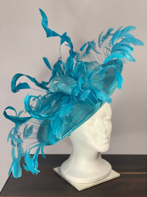 "Kentucky Derby Blue Fascinator ""All Over Blue"""