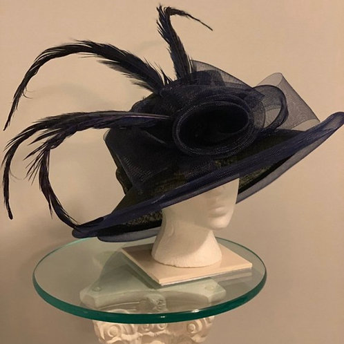 """Kentucky Derby Hat """"Dressed to the Navy Nines"""""""