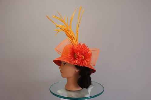 "Orange Kentucky Derby Hat - ""Orange Ya Havin' Fun"""
