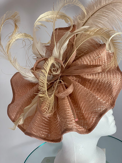 "Kentucky  Derby Fascinator ""Blushing Babe"""