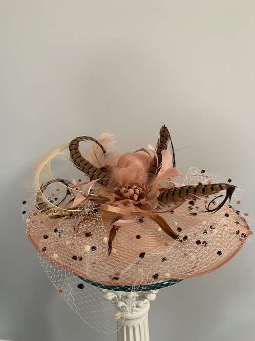 Blushing Baby Kentucky Derby Hat SOLD