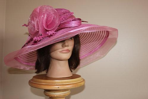 Mauveberry Pink - Kentucky Derby Hat