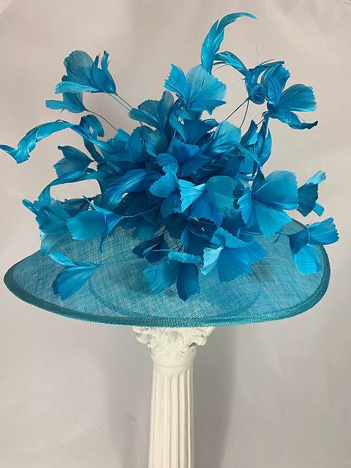 "Kentucky Derby Hat - ""Tickled in Blue"""