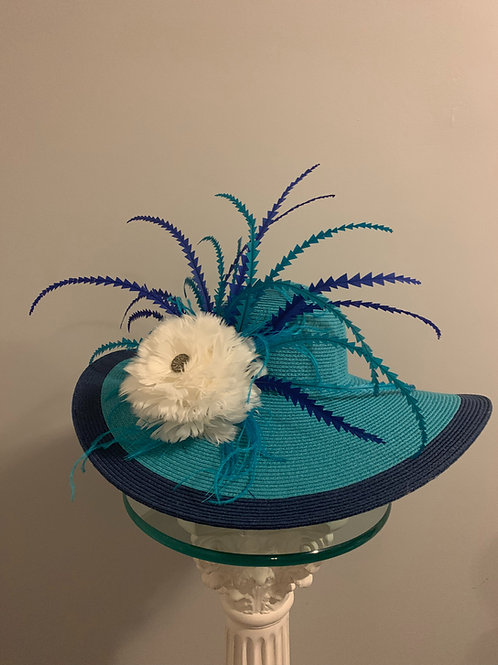 Zig-Zaggin' Away -  Blue Derby Hat