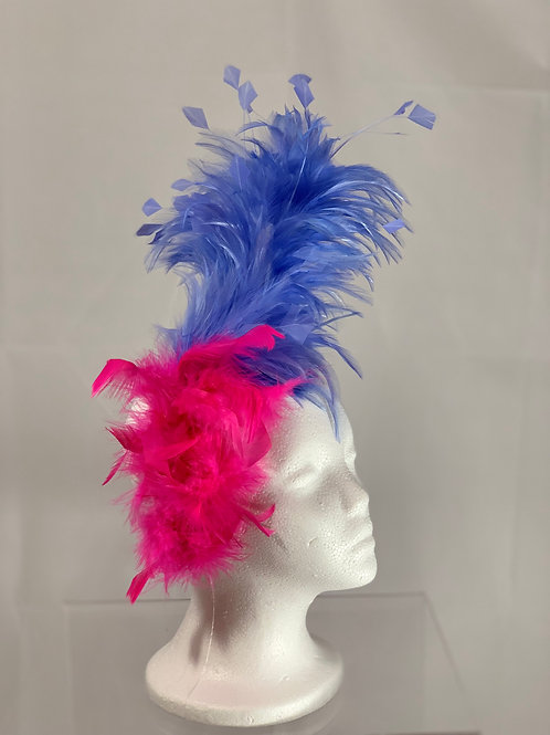 "Kentucky Derby Fascinator - ""Periwinkle Princess """