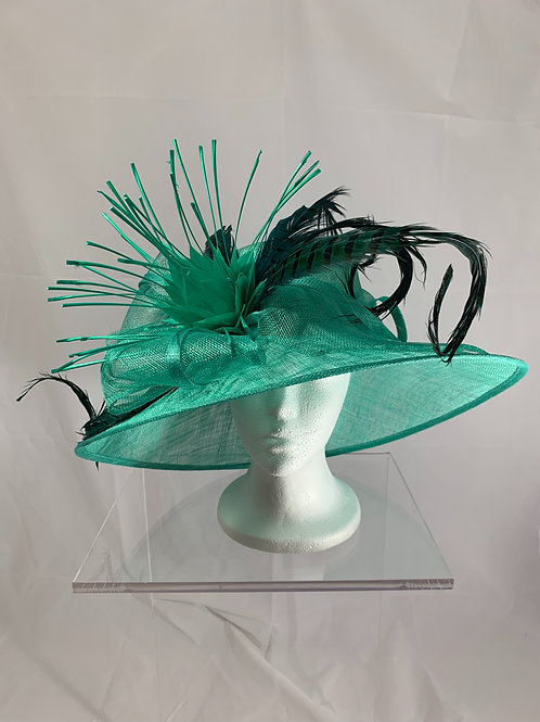Serious Racer - GREEN SINAMAY HAT - SOLD