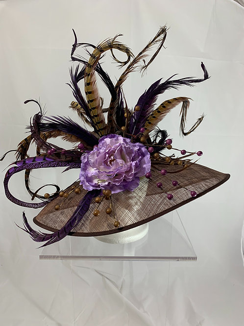 Pleasant Purple Pheasant Kentucky Derby Hat