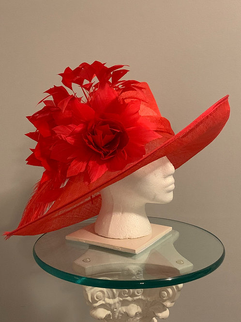 "Kentucky Derby Hat -""Race Ready Red"" SOLD"