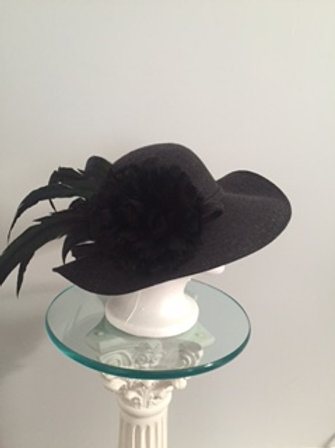 "SOLD Breeders' Cup or KY Derby Dark Charcoal Gray  Hat - ""Dark Gray Today"""
