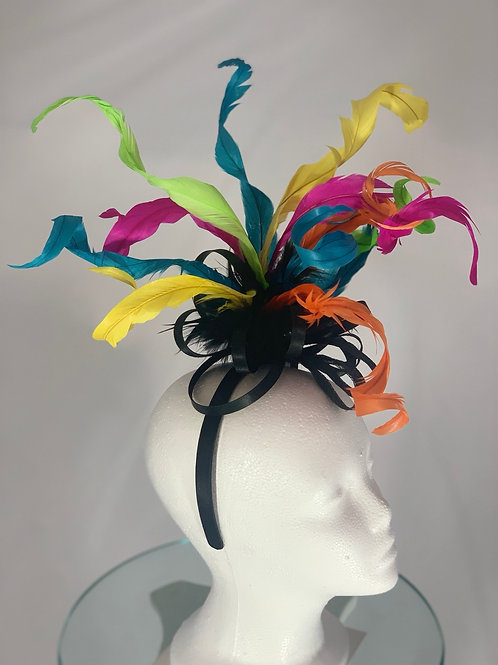 """Kentucky Derby Fascinator """"Curled and Colorful"""""""