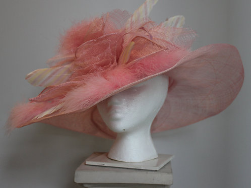 "Pink Kentucky Derby Hat -SOLD OUT ""Cotton Candy Dandy"" SOLD OUT"