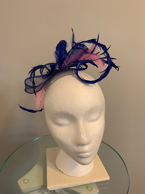 "Kentucky Derby  Fascinator - ""Accented in Blue"""