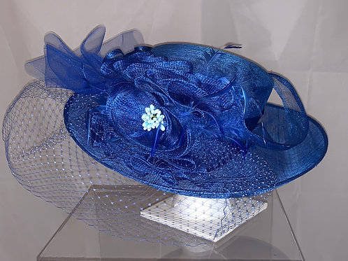 "Royal Blue Kentucky Derby Hat - ""Kentucky Blue Queen"""