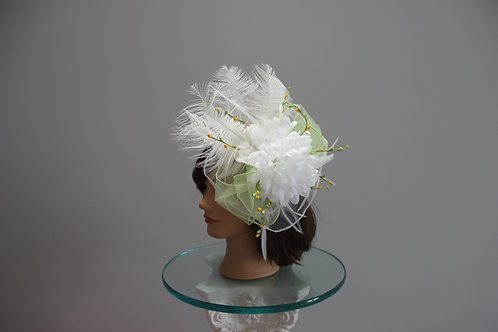 "Kentucky Derby Fascinator - ""Lemon Lime Lady"""