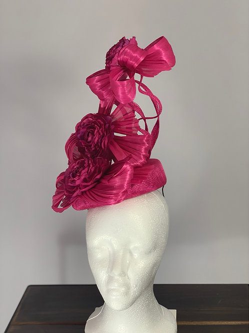 "Kentucky Derby Fascinator ""Rambunctious Ranunculus"""