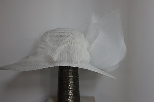 """""""White Out Wonder"""" - All white hat"""