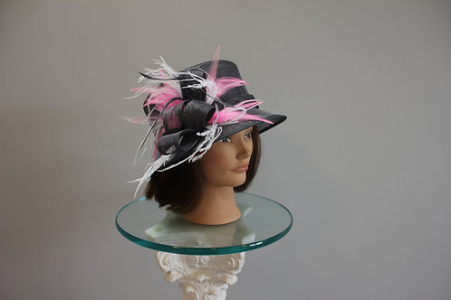 "Gray Kentucky Derby Hat ""Gray Baby"""