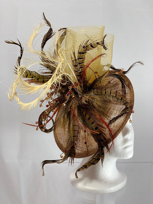 "SOLD Kentucky Derby ""Fowl Feathered Fascinator"""