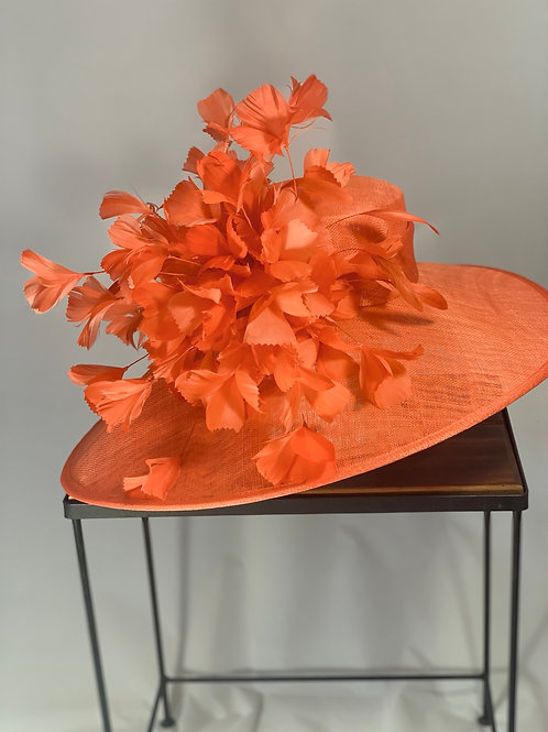 "Kentucky Derby Orange Hat ""Orange Ovation"""