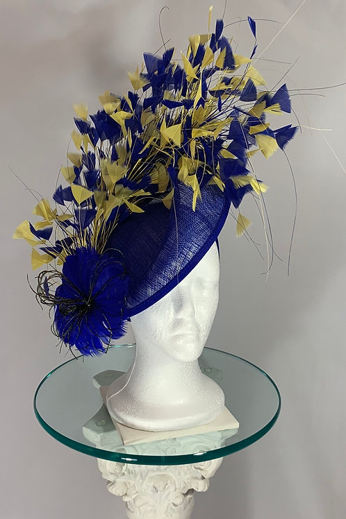 Kentucky Derby Fascinator Blue Ribbon Winner